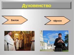 Духовенство белое и черное