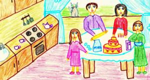 Анализ детского рисунка моя семья в психологии